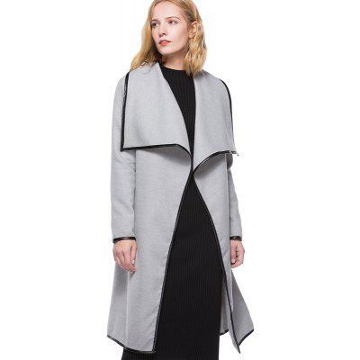 Women's Fashion Wild Solid Color Long Section Coat