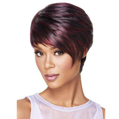 Women's Fashion Rose Network Straight Hair Wig Short Wigs