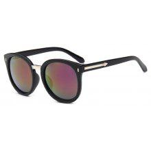 Vienndo Vintage Round Frame Sunglasses With Mirrored Lenses Unisex UV400 Protection Glasses