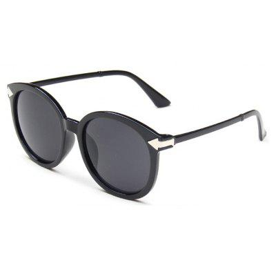 Viendo Round Frame Sunglasses With Mirrored Lenses Unisex UV400 Protection Glasses