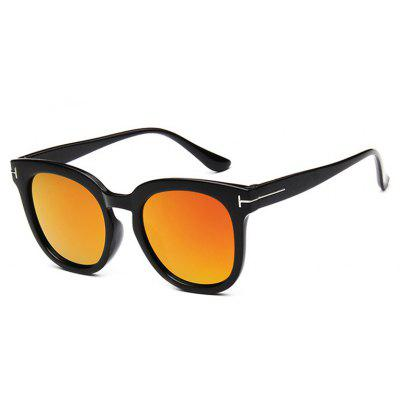 Viendo Classic oversized Round Frame Sunglasses With Mirrored Lenses Unisex UV400 Protection Glasses