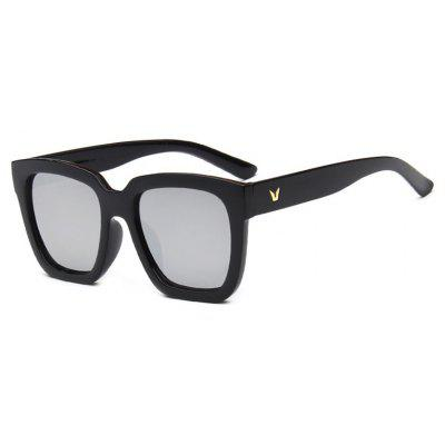 Viendo Classic Square Frame Sunglasses With Mirrored Lenses Unisex UV400 Protection Glasses
