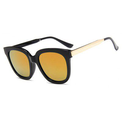Viendo Classic Rectangle Frame Sunglasses With Mirrored Lenses Unisex UV400 Protection Glasses