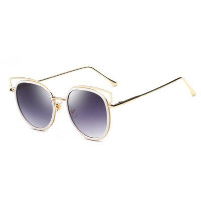 Viendo Stylish Alloy Round Frame Sunglasses With Mirrored Lenses Unisex UV400 Protection Glasses