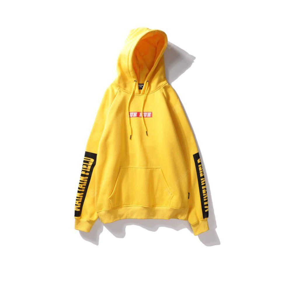 Men's Hoodie Casual Fashion Letter Patter Solid   Color Comfy Hoodie
