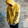 Men's Hoodie Casual Fashion Letter Patter Solid   Color Comfy Hoodie - YELLOW