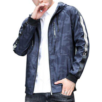 Men's Quilted Coat Solid Color  Hooded Comfy  All Match Coat