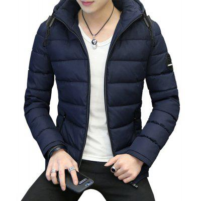 Slim Hoodie Long Sleeve Pockets Zipper Thicken Warm Coat