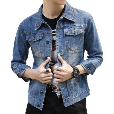 Men's Bomber Jacket Fashion Comfy  All Match Long Sleeve Jacket