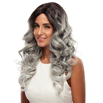 Synthetic Hair Skin Part Lace Front Wig Curly Long Curly Heat Resistant Fiber Ombre Color Wig For Women RC0666 цена и фото