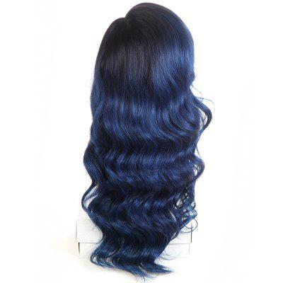 Synthetic Lace Front Long Wavy Wig Ombre color Heat Resistant Fiber Hair Wigs For Women RC0894 new high quality heat resistant fiber afro curl kinky curly hair wig glueless synthetic lace front wig for black women