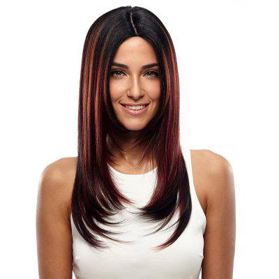 Synthetic Hair Wig Long Straight Ombre 24 Inch RC0670