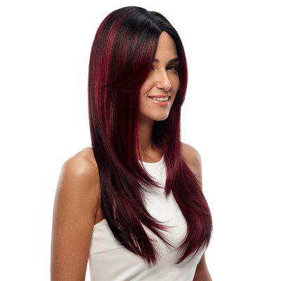 Synthetic Hair Skin Part Lace Front Wig Long Straight Heat Resistant Fiber Ombre Color Wig For Women RC0776 цена и фото