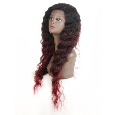 Synthetic Lace Front Long Wavy Wig Ombre color Heat Resistant Fiber Hair Wigs For Women RC0895 цена и фото