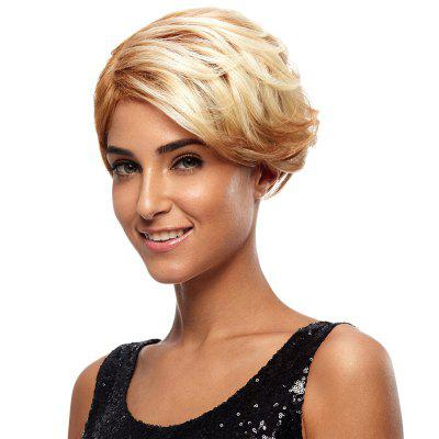 Synthetic Hair Blonde Wig Short Pixie Cut Straight 8 Inch RC0675 pretty short straight blonde 8 synthetic hair wigs free shipping