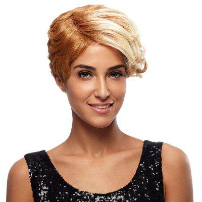 Synthetic Hair Blonde Wig Short Pixie Cut Straight 8 Inch RC0675