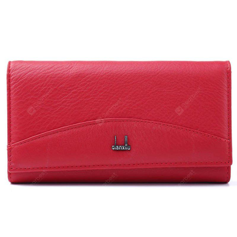 Genuine Leather Wallet Women High Quality Coin Purse Female 2017 RED