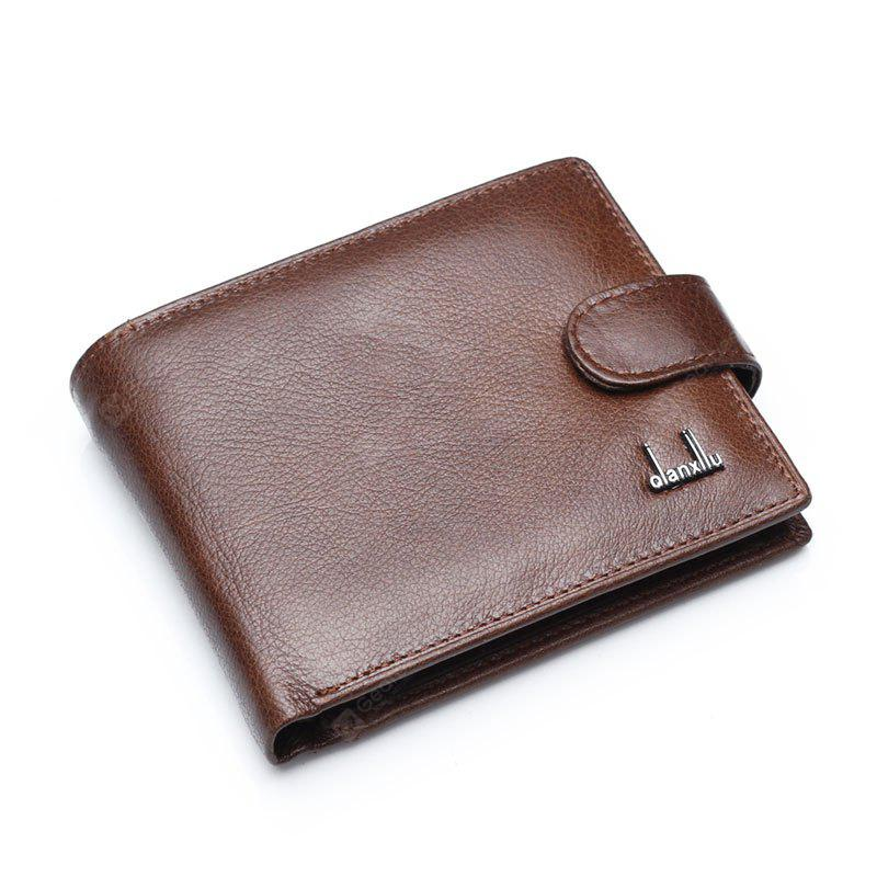 Qianxilu Brand Genuine Leather Men Wallets Coin Pocket Brown Wallet Purse Male Wholesale Price BROWN