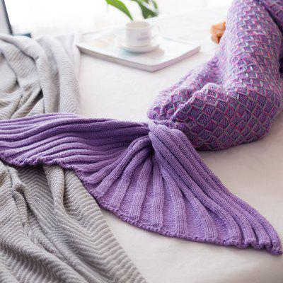 New Product Knitted Multicolored Fish Scales Design Mermaid Tail BlanketBlanksts&amp; Throws<br>New Product Knitted Multicolored Fish Scales Design Mermaid Tail Blanket<br><br>Category: Blanket<br>For: All<br>Material: Knitting Wool<br>Occasion: Library, Study, Travel, School, Office, Dining Room, Bedroom, Bathroom, Living Room, KTV, Bar<br>Package Contents: 1 x Blanket<br>Package size (L x W x H): 35.00 x 35.00 x 3.00 cm / 13.78 x 13.78 x 1.18 inches<br>Package weight: 0.5000 kg<br>Product weight: 0.4500 kg