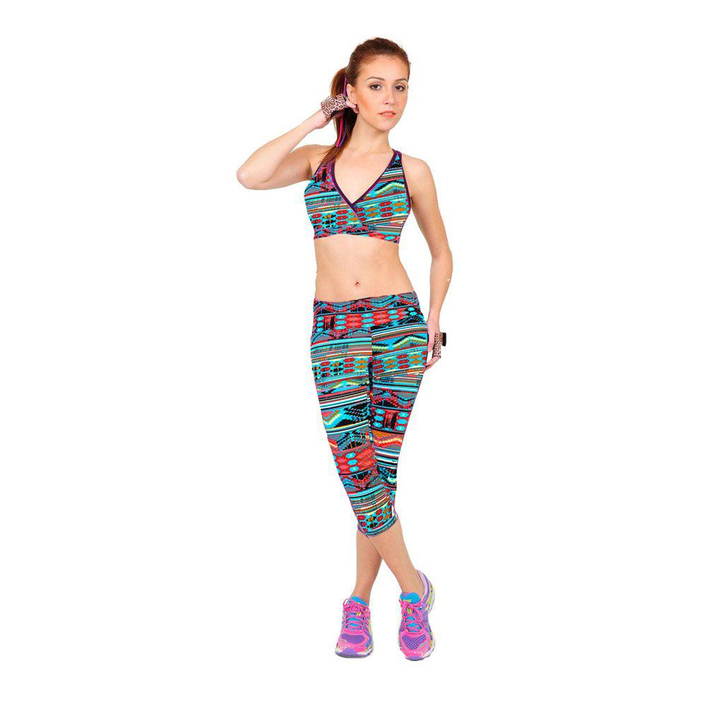 Leggings Yoga Yoga a vita alta con stampa Air Wave
