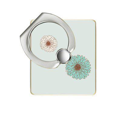 Chrysanthemum Pattern Cell Phone Ring Stand Holder for Phone 360 Degree Rotation