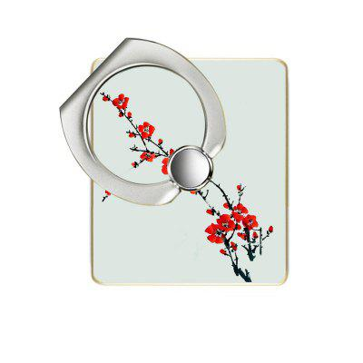 Red Plum Pattern Cell Phone Ring Stand Holder for Phone 360 Degree Rotation