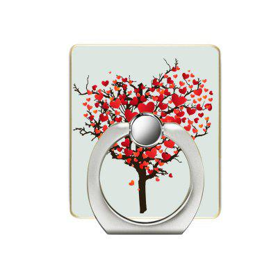 Heart-shaped Tree Pattern Cell Phone Ring Stand Holder for Phone 360 Degree Rotation