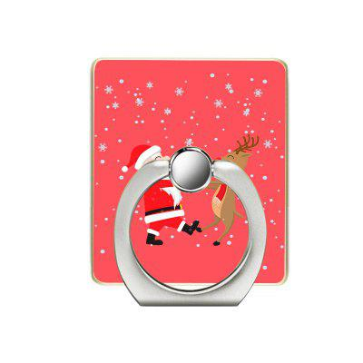 Santa and Deer Pattern Cell Phone Ring Stand Holder for Phone 360 Degree Rotation