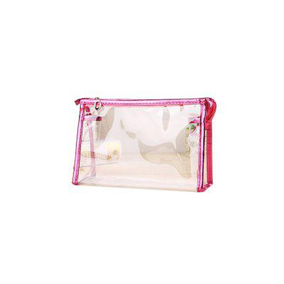 Fashion PVC Cosmetic Bag Lady Transparent Waterproof Wash Bag Travel Storage Bag