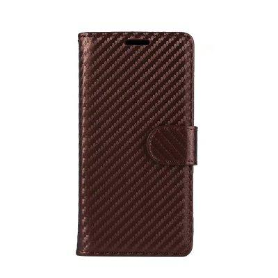 Carbon Fiber Pattern Flip PU Leather Wallet Case for Xiaomi Redmi Note 4