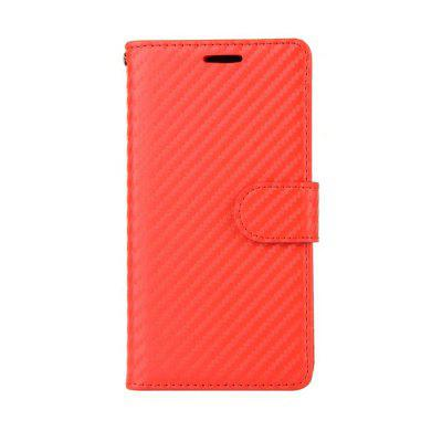 Padrão de fibra de carbono Flip PU Leather Wallet Case para Huawei P9