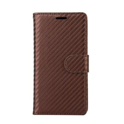 Carbon Fiber Pattern Flip PU Leather Wallet Case for Huawei P9