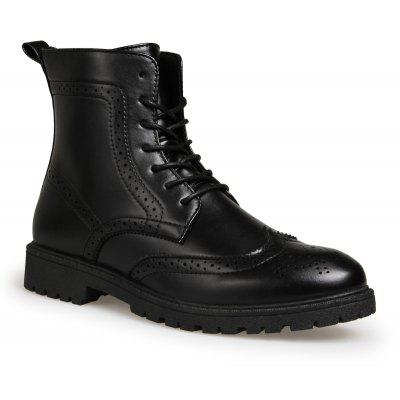 Autumn and Winter Leisure Breathable Bullock Carved Men's Martin Boots