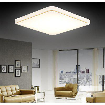 48 Watts and Three Color Modern Simplified LED Square Suction Dome Light 50 x 50 CM