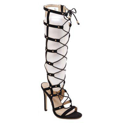 Ladies Rubber Sole with Sexy Bandage Boots