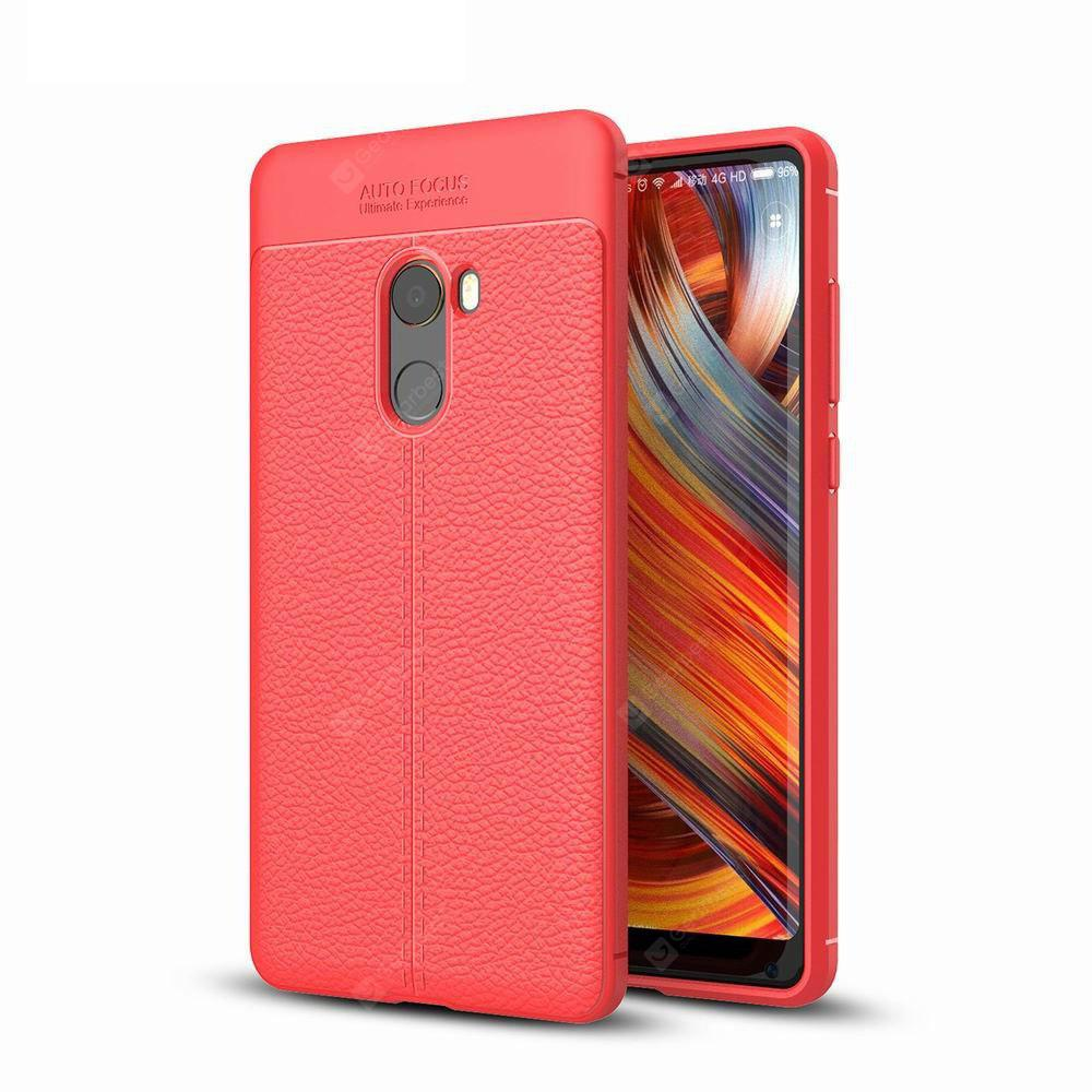 Case Cover Luxus Silikon TPU Leder Textur für Xiaomi Mix2 Phone Case