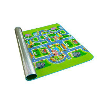 Urban traffic pattern crawling mat for children