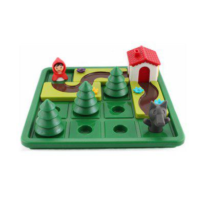Little Red Hat and big Gray Wolf Parent-Child Puzzle Logic Thinking Training