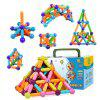 36 pezzi Blocks Magnetic Stick Blocks Cute Smiling Faces Giocattolo per Bbambini - COLORI MISTI