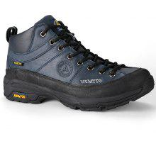 HUMTTO Hiking Shoes Men Leather Climbing Boots Rubber Plus Velvet Sneaker