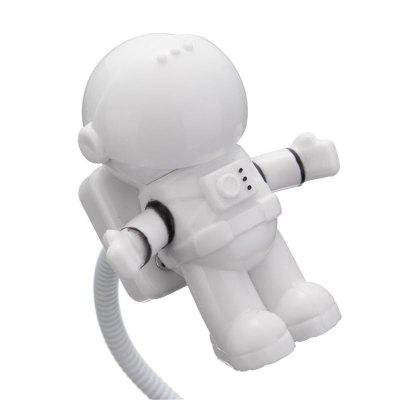 Mini Reading Lamp USB Tube For Computer Laptop PC Notebook Pure White Portable Spaceman Astronaut LED Night Light