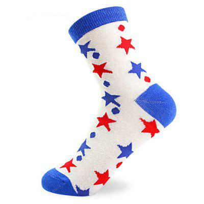 Buy COLORMIX Star Pattern Elastic Knitting Socks N201612 5 Pairs for $19.39 in GearBest store