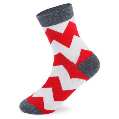 Buy COLORMIX Wave Stripe Elastic Knitting Socks N201612 5 Pairs for $19.39 in GearBest store