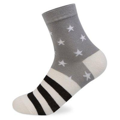 Buy COLORMIX Stars Stripe Graphic Elastic Knit Socks N201612 5 Pairs for $19.39 in GearBest store