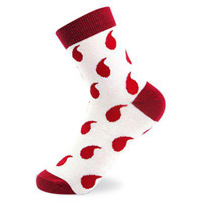 Buy COLORMIX Droplets Designs Elastic Knit Socks N201612 5 Pairs for $19.39 in GearBest store