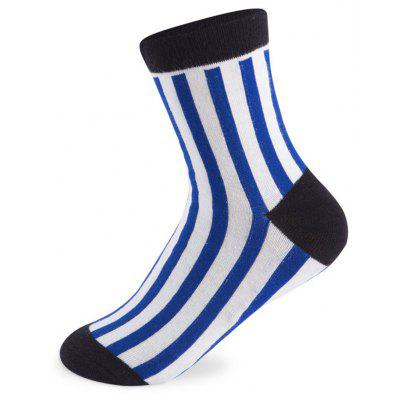 Buy COLORMIX Vertical Stripes Elastic Knitting Socks N201612 5 Pairs for $19.39 in GearBest store