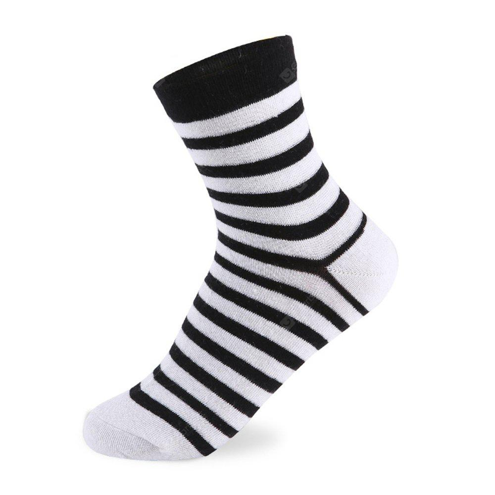 COLORMIX Stripes Graphic Elastic Knit Socks N201612 5 Pairs