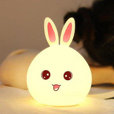 New Rabbit LED Night Light For Children Multicolor Silicone with Touch Sensor
