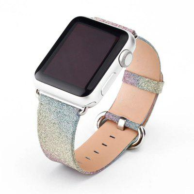For Apple Watch Band Leather for iWatch Strap Extreme Deluxe Shiny Bling Glitter Leather Bracelet Wristband