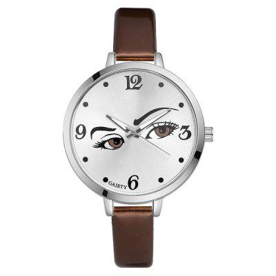 GAIETY G199 Ladies Classic Silver Dial Thin Leather Strap Watch